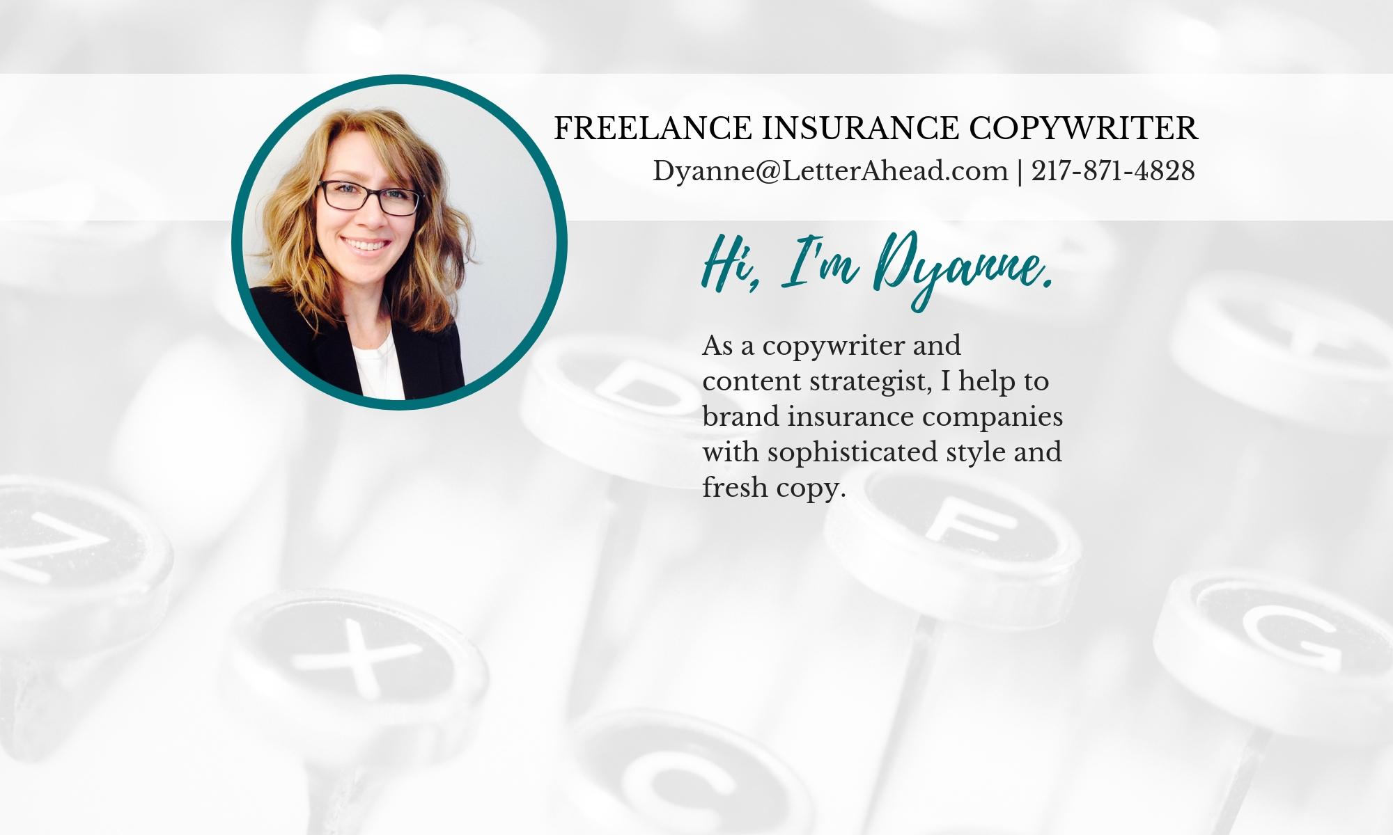 Dyanne Harvey | Freelance Insurance Copywriter